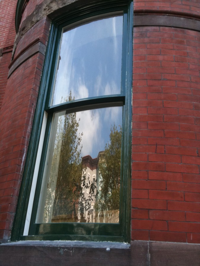 Brick Townhouse, Curved Glass